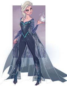 """Elsa's X-men outfit in reference to """"How Frozen Should Have Ended"""""""