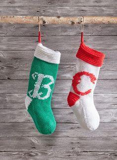 Bernat moment stocking  crochet Personalized Christmas Stocking  Free download