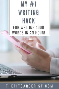 Wondering how to write faster? Chances are, it's not your typing speed it's the problem - It's getting over writer's block! Here is this strange but super effective tip for getting into your flow state and knocking out 1000 words in an hour! Writing Jobs, Writing Advice, Start Writing, Article Writing, Writing Binder, Fiction Writing, Blog Writing, Writing Ideas, Writing Inspiration