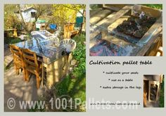 Growing pallet table | 1001 Pallets