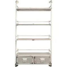Wall shelves & hanging shelves - Wall shelf Barber in white by Dutchbone Flamingo RoyaleFlamingo Royale The Effective Pictures We Of - Hanging Shelves, Wall Shelves, Cosy Sofa, Iron Shelf, Sit Back And Relax, Drawer Fronts, Luxury Interior Design, Floor Space, Small Rooms