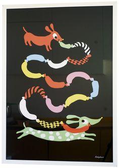 Poster `Hot dogs`   Posters   Zoeteappel - wonen, lifestyle & kids