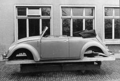 1946 Landau Prototype -  One of many VW Beetle post-war production's models.  Pictues were sent to Strictly Vintage by the Karmann museum.