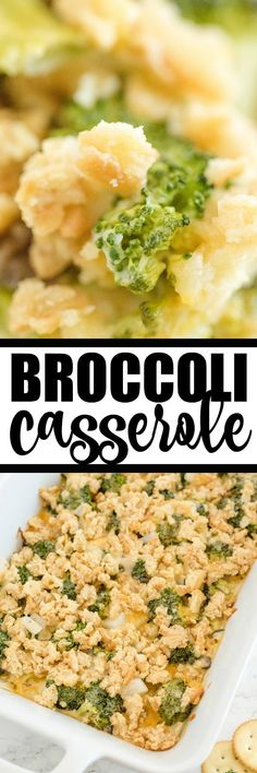 Broccoli Casserole - Tender broccoli and creamy mushroom sauce, topped with cheese and a crispy cracker topping - this side dish is a classic for a reason! This is easy comfort food, that everyone in the family is sure to love. Easy Brocolli Casserole, Vegetable Casserole, One Pot Dishes, Side Dishes, Creamed Mushrooms, Stuffed Mushrooms, Cauliflower Side Dish, Creamy Mushroom Sauce, Baked Vegetables