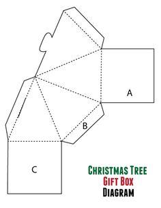 Christmas Tree Box Diagram #holiday #giftbox