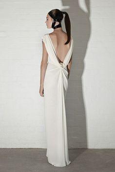 Brides - Pearl Georgette Art Deco Gown - Carla Zampatti