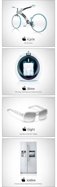 Si Apple incursionase en la cotidianidad, estas podrían ser sus propuestas futuristas (estas imágenes no son productos oficiales Apple. Todas son propuestas hechas por fans de la marca).