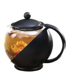 Black Flowering Tea Half Moon Tea Set