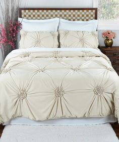 Another great find on #zulily! Pearl Fiona Comforter Set #zulilyfinds