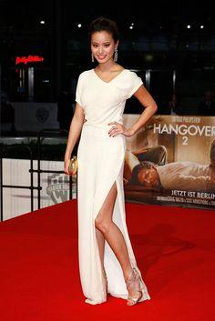 Jamie Chung. love her dress