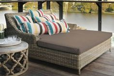 Easthampton Double Day Bed, Rattan | Absolute Home