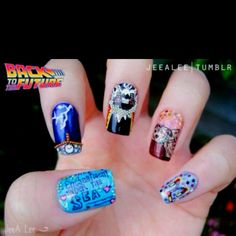 Amazing Back to the Future nail art!