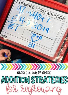 Addition with regrouping is always such a tricky concept for our little learners. This unit was created to help my students with 2 and 3 digit addition as well as addition with 3 and 4 addends. There are also four different addition strategies taught. All of the addition with regrouping activities can be used for whole group math, small group math, or independent practice.