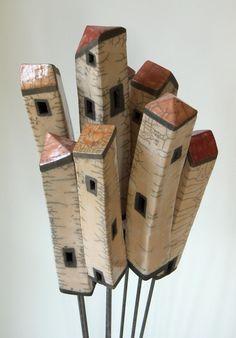 Cute little wooden houses Bits Pieces Pinterest