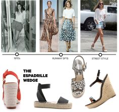 Shoe Trends: The history of the espadrille wedge