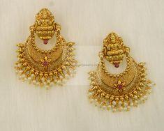 Earrings / Jhumkis / Chandbali - Gold Jewellery Earrings / Jhumkis / Chandbali (ER1467PE1387) at USD 759.50 And GBP 540.97