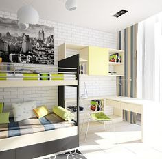 Colorful children's rooms