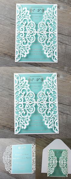 Items similar to Laser Cut Wedding Invitations on Etsy 4327deb4d09a