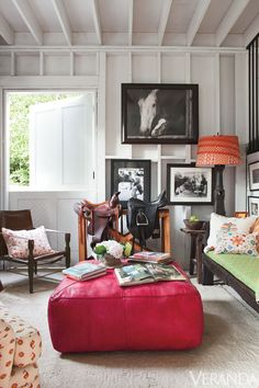 Kathryn M. Ireland's inspired interior for a horse-lover! Vicki, I thought of you when I saw this!