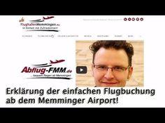 Flugbuchung Memminger Flughafen Airport einfach im Video erklärt