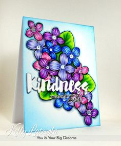 Stenciling with die cuts for a one layered card! Kelly Latevola visits the Simon Says Stamp blog for a fun tutorial.