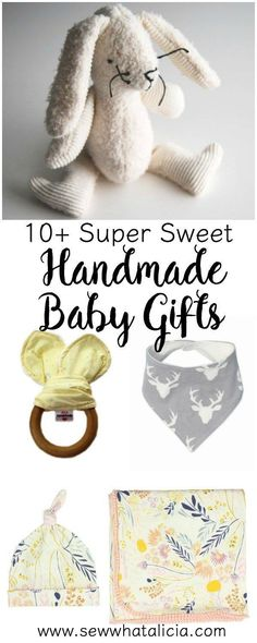 10+ Super Sweet Handmade Baby Gifts | http://www.sewwhatalicia.com