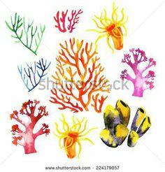 Coral ideas for the sea floor bracelet.