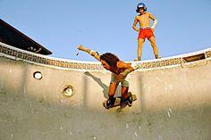 1975 skinny boards pool skating in Dallas