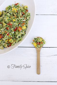 Brussels Sprout Salad with Mango & Feijoa.