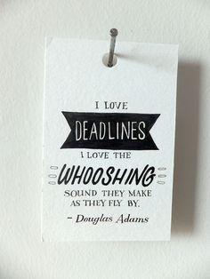 Mini Quote - Douglas Adams, via @Etsy