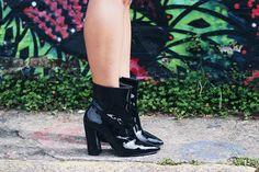 LOOK-DIA-BOTA-VERNIZ-ViNyL-BOOTS - patent - leather - boots
