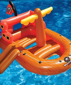 This thing is so cool! Can you imagine the fun of having a 'pirate' ship' in the pool! Take a look at this Galleon Raider Float by Swimline on #zulily today!