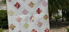 """I continue to enjoy making things using my GO! Qube. This month I am sharing a tutorial for an easy baby or lap quilt that finishes at 36"""" square."""