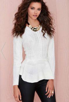 Knitted Peplum Sweater