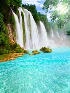 Carole's Chatter: 'A noise of falls' by Gerard Manley Hopkins Beautiful Nature Scenes, Amazing Nature, Waterfall Scenery, Waterfall Wallpaper, Studios, Les Cascades, Beautiful Waterfalls, Of Wallpaper, Vinyl