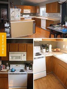 Before U0026 After: A $12,000 Complete Kitchen Makeover U2014 Reader Kitchen Remodel