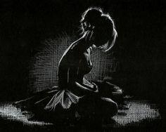 Resultado de imagen de white drawing on black paper