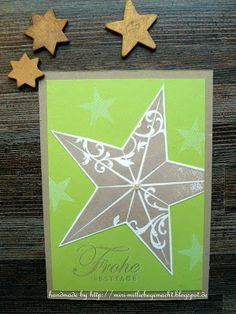 Postkarte mit Christmas Star