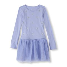 lands end school uniform for girls pictures | Image for Girls Long Sleeve Shiny Mesh Tutu Dress from The Children's ...