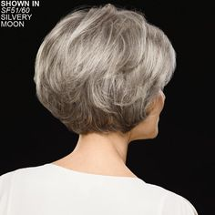 Chic Cropped Bob Wigs With Feathered Layers And A Subtly Notched Nape Short Layered Bob Haircuts, Short Hairstyles For Thick Hair, Short Grey Hair, Short Hair With Layers, Short Hair Cuts For Women, Wig Hairstyles, Short Hair Styles, Hair Type, Hair Pieces