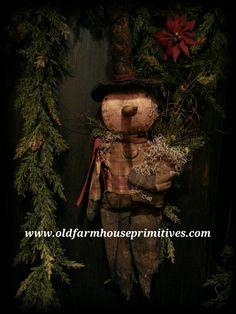 "Primitive Hanging Snowboy ""Alton"" (Made In USA)"