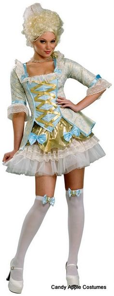 Lady of Versailles Sexy Marie Antoinette Costume - Candy Apple Costumes