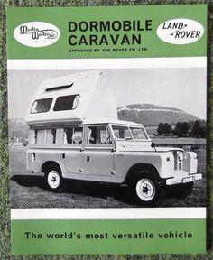 The Land-Rover Dormobile Caravan (Martin Walter/Rover Co. Landrover Defender, Defender Camper, Land Rover Defender 110, Classic Campers, Classic Trucks, Land Rovers, Land Rover Santana, Best 4x4, Vintage Rv