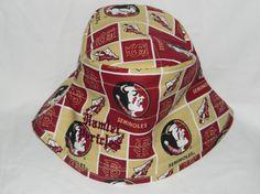 FSU gold-burgundy bucket hat by Hamlet Pericles