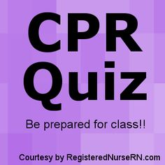 This CPR quiz is designed to help prepare you for your upcoming CPR class or re-certification. These CPR quiz questions are designed to help you understand basic concepts about CPR, so you will be …