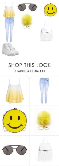 """back to school"" by duna748 ❤ liked on Polyvore featuring WithChic, Glamorous, Natasha Couture, Seafolly, Mansur Gavriel and NIKE"