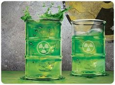 """""""Nuclear"""" symbol shot glasses...for my brother and nephew!!"""