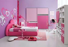 Cute Pink Kid Girl Bedroom Design Ideas