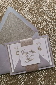 Wedding Invitations, Letterpress, Silver and Gold Glitter, Brooke Suite, Just Invite Me Letterpress Business Cards, Letterpress Wedding Invitations, Wedding Trends, Wedding Designs, Wedding Ideas, Glitter Wedding Invitations, Wedding Invitation Inspiration, Winter Bride, Gold Glitter