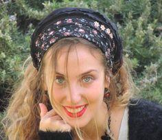 MEYTAL Floral Black bandana Sweet Headband by SaraAttaliDesign